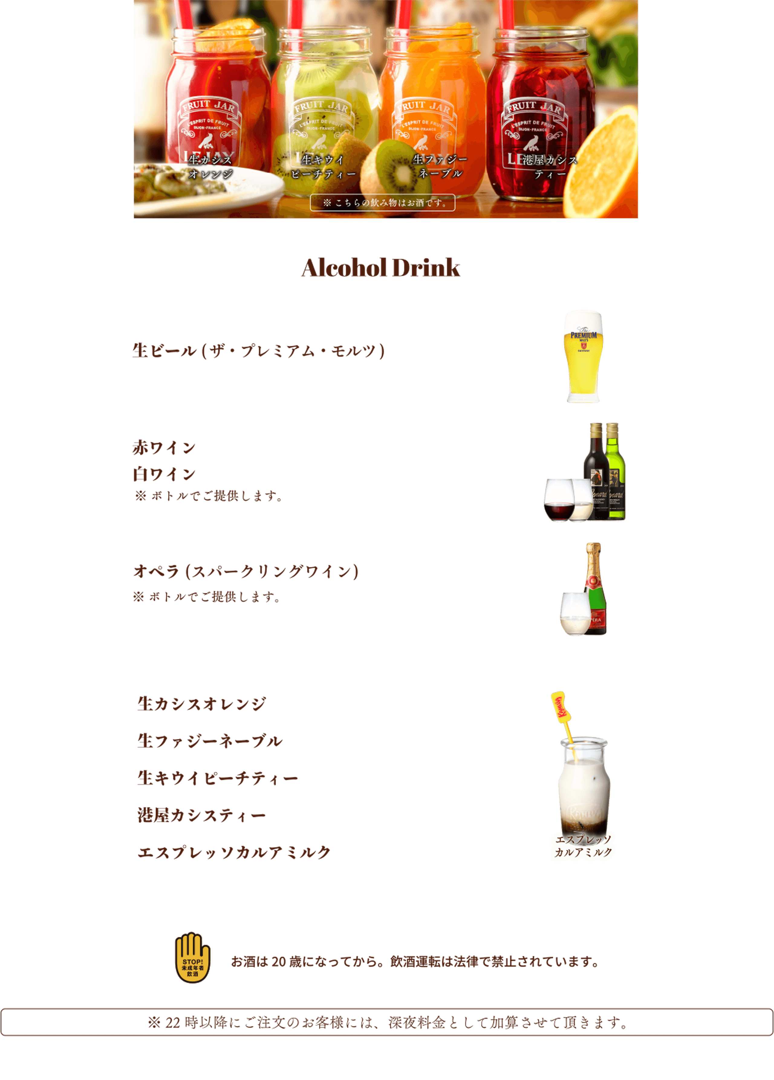 アルコール部分画像
